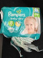 Pampers Baby Dry nappies size 8 large image